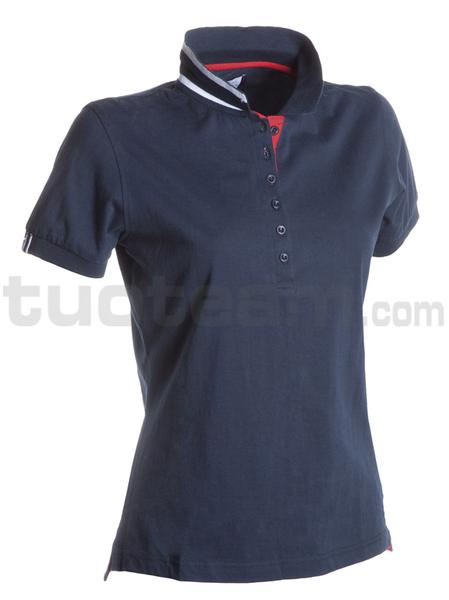 MEMPHIS LADY - Polo MEMPHIS LADY - BLU NAVY/BIANCO-ROSSO