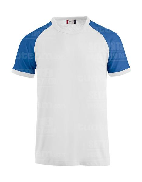 029326 - T-SHIRT Raglan-T - 0055 bianco/royal