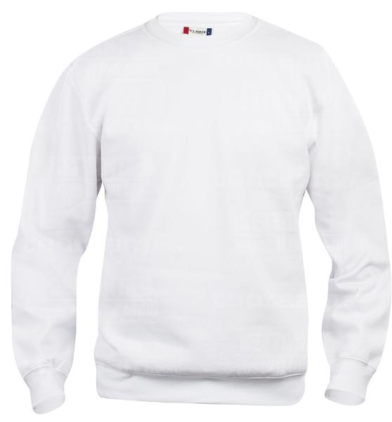 021020 - FELPA Basic Roundneck Junior - 00 bianco