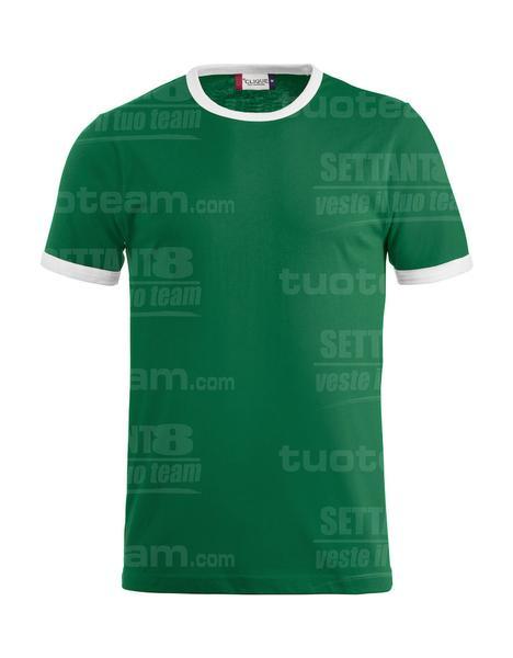 029314 - T-SHIRT Nome - 6200 verde bandiera/bianco