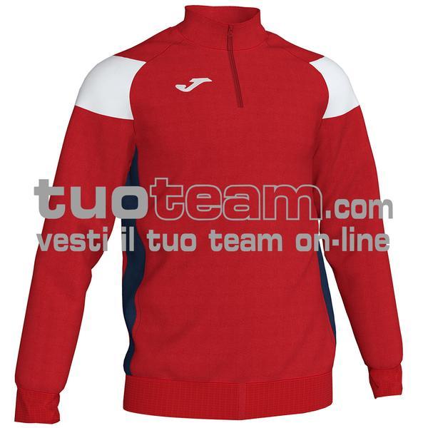 101272 - FELPA 1/2 ZIP 100% polyester fleece - 602 ROSSO / BIANCO