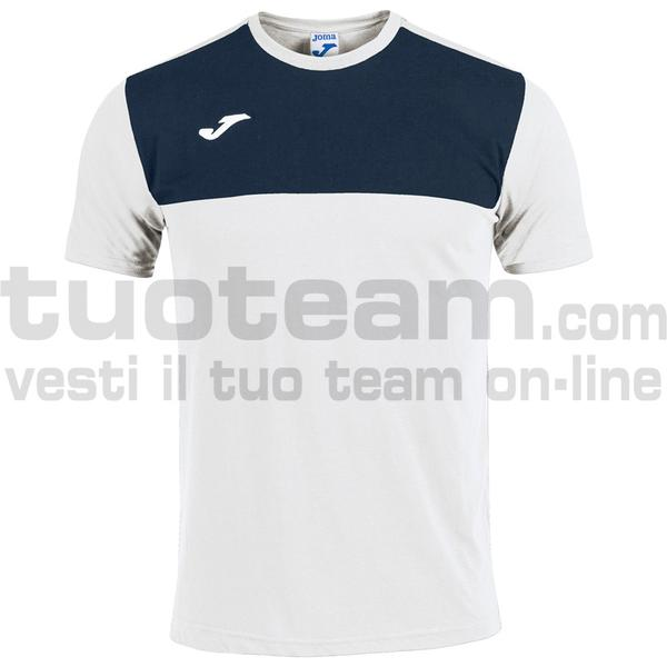 101683 - CAMISETA WINNER ROYAL-MARINO M/C - 203 BIANCO / DARK NAVY