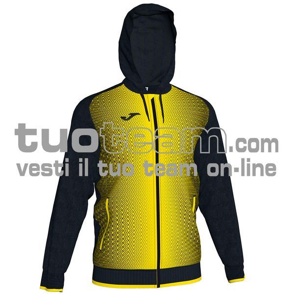101285 - FELPA FULL ZIP 100% polyester tricot - 109 NERO / GIALLO