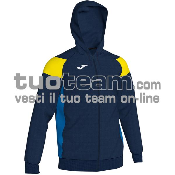 101271 - CREW III FELPA FULL ZIP 100% polyester fleece - 339 BLU NAVY/GIALLO
