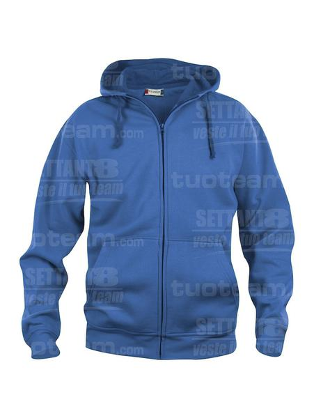 021034 - FELPA Basic Hoody Full zip Men's - 55 royal