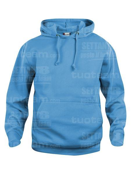 021031 - FELPA Basic Hoody - 54 turchese