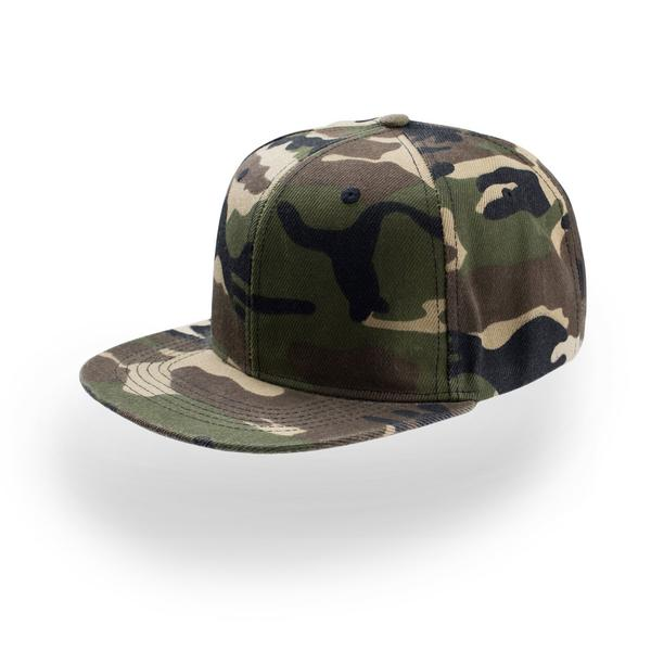 ATSNAP - CAPPELLINO Snap Back 6 pannelli - CAMOUFLAGE