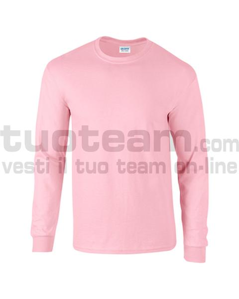 GL2400 - Ultra Cotton Maglia G/C-M/L 100% Cot. 205 gr/m2 - Light Pink