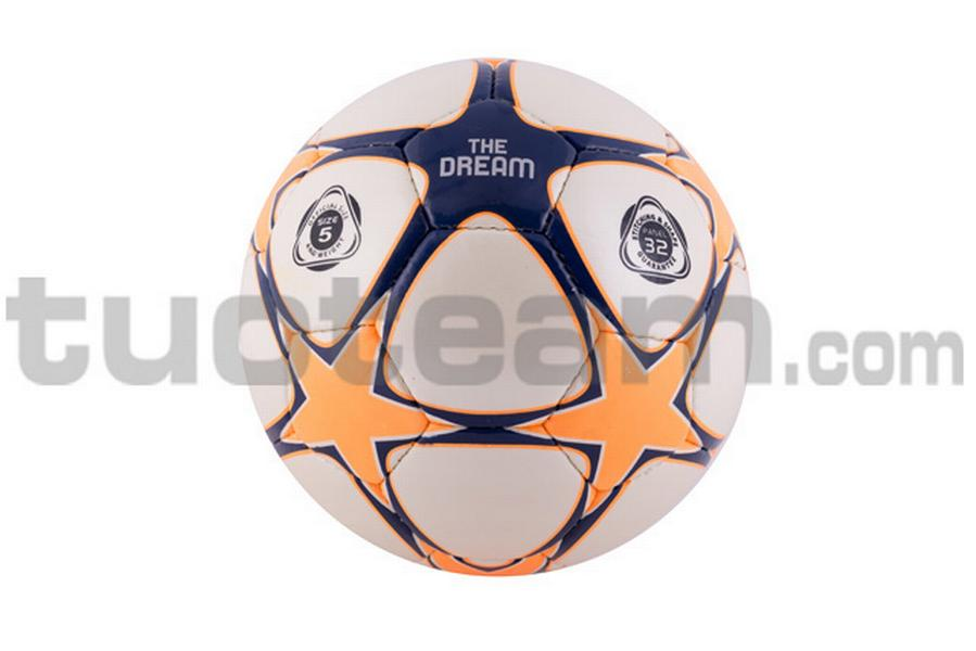780201 - PALLONE THE DREAM '18 - arancione fluo / blu navy