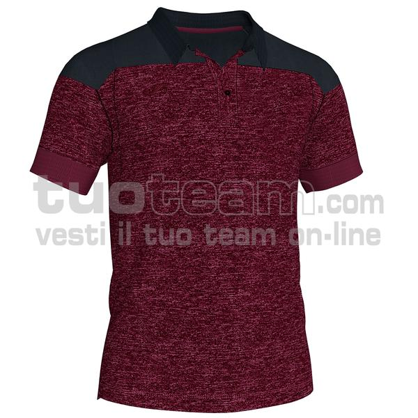101282 - WINNER II POLO WINNER II MC 65% polyester 35% cotton - 672 BORDEAUX/NERO