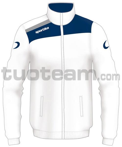 7245 - giacca NEST - BIANCO / BLU / GRIGIO