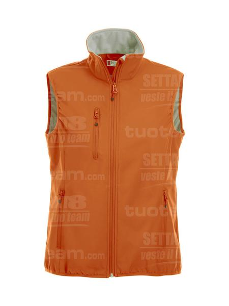 020916 - GILET Basic Softshell Vest Ladies - 18 arancione