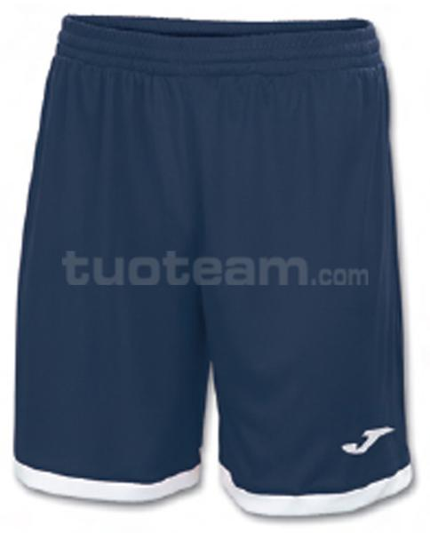 100006 - TOLEDO SHORT 100% polyester interlock - 300 BLU NAVY/BIANCO