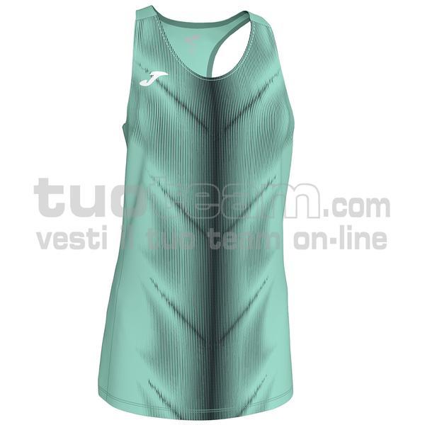 900932 - CANOTTA OLIMPIA 95% polyester 5% elastane - 401 VERDE FLUOR / NERO