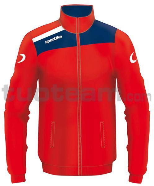 7245 - giacca NEST - ROSSO / BLU / BIANCO