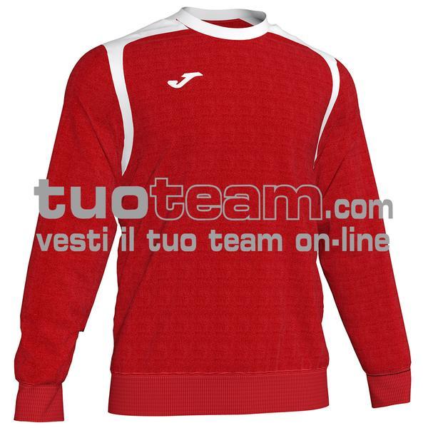 101266 - FELPA girocollo 100% polyester fleece - 602 ROSSO / BIANCO