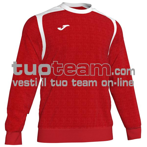 101266 - FELPA CHAMPION V girocollo 100% polyester fleece - 602 ROSSO / BIANCO