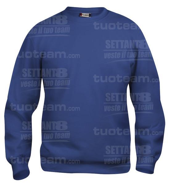 021030 - FELPA Basic Roundneck - 56 cobalto