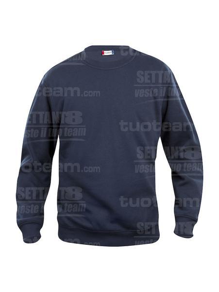021030 - FELPA Basic Roundneck - 580 blu