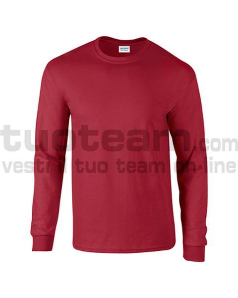 GL2400 - Ultra Cotton Maglia G/C-M/L 100% Cot. 205 gr/m2 - Cardinal Red