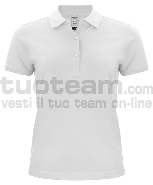 028265 - Organic Cotton Polo Lady - 00 bianco