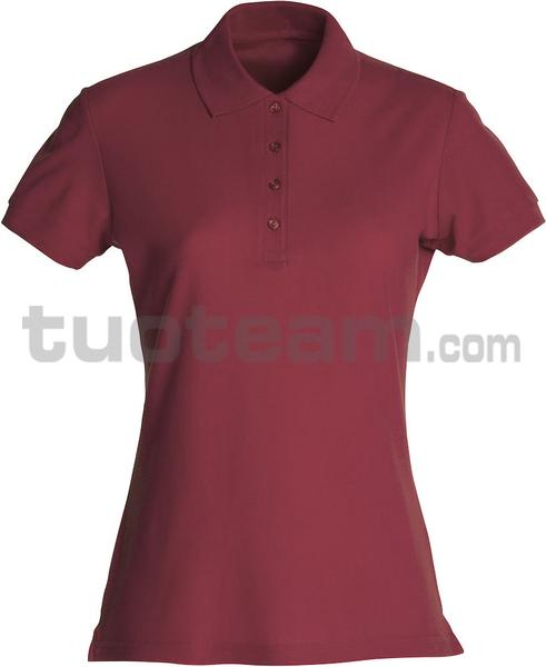 028231 - polo basic lady - 38 bordeaux