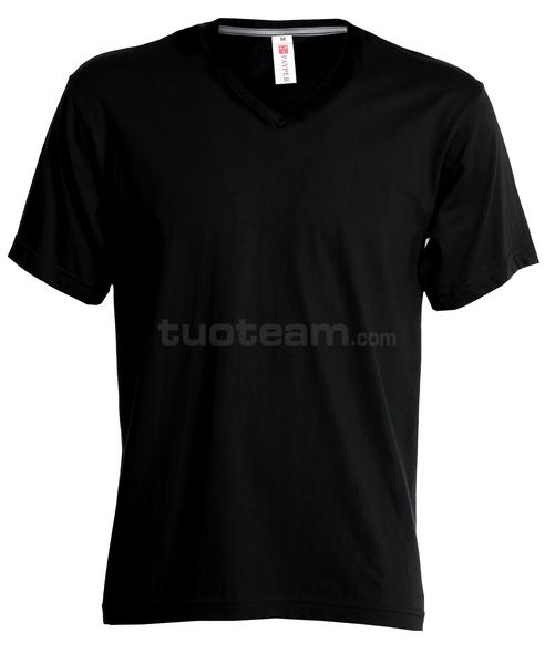 V-NECK - T-SHIRT V-NECK - NERO