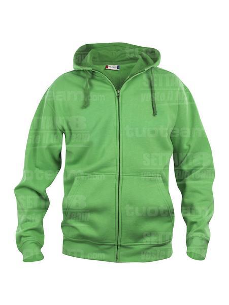 021034 - FELPA Basic Hoody Full zip Men's - 605 verde acido
