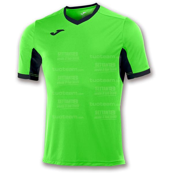 100683 - CHAMPION IV MAGLIA MC 100% polyester interlock - 021VERDE FLUOR/NERO