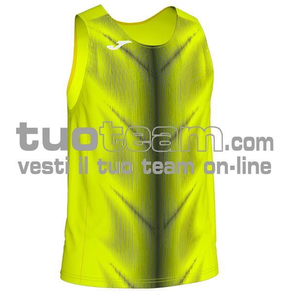 101348 - CANOTTA OLIMPIA 95% polyester 5% elastane - 061 GIALLO FLUO/NERO