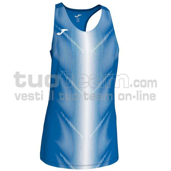 900932 - CANOTTA OLIMPIA 95% polyester 5% elastane - 702 ROYAL / BIANCO