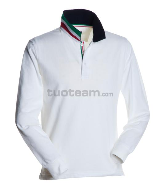 LONG-NATION - POLO LONG-NATION - BIANCO/ITALIA