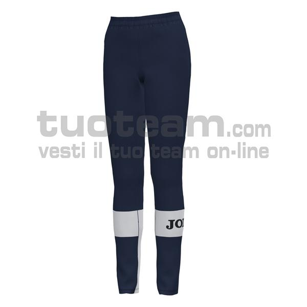 901048 - CREW IV WOMAN PANTALONE 100% polyester fleece - 332 DARK NAVY / BIANCO