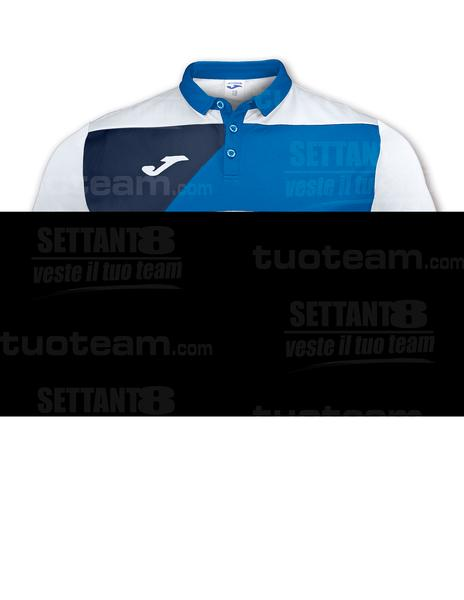 100679 - POLO CREW M/C - BIANCO/BLU ROYAL/BLU NAVY