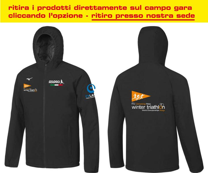 BD1800057 - Giacca Antivento Nera Uomo World Championship Winter Triathlon
