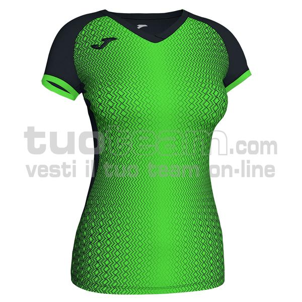 900890 - SUPERNOVA WOMAN MAGLIA MC 100% polyester interlock - 117 NERO / VERDE
