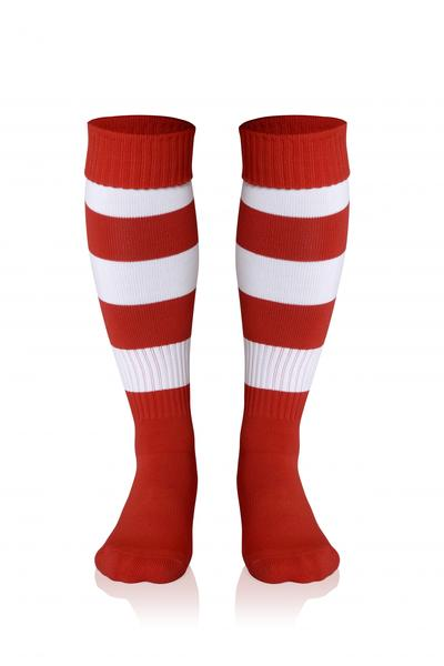0022281 - CALZA DOUBLE STRIPED - ROSSO / BIANCO