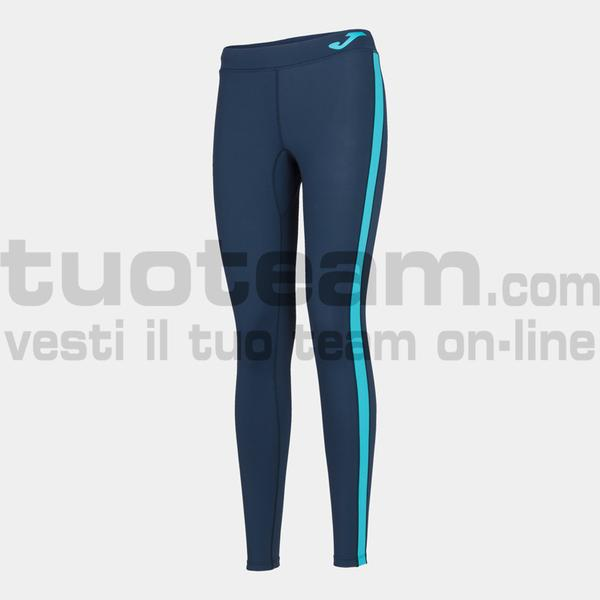901127 - TIGHT ASCONA 90% polyester 10% spandex - BLU NAVY / TURCHESE FLUO