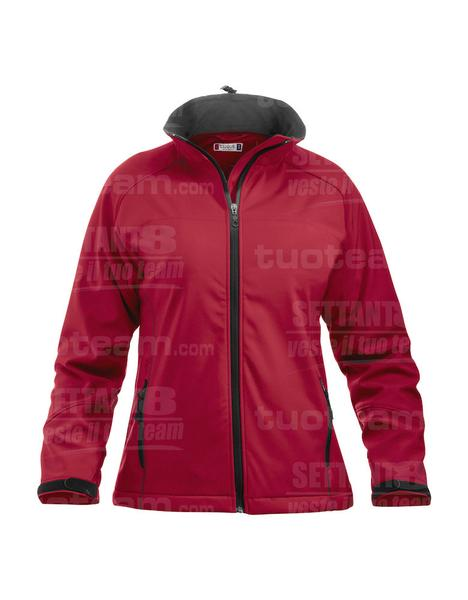 020925 - GIACCA Softshell Lady - 356 rosso intenso