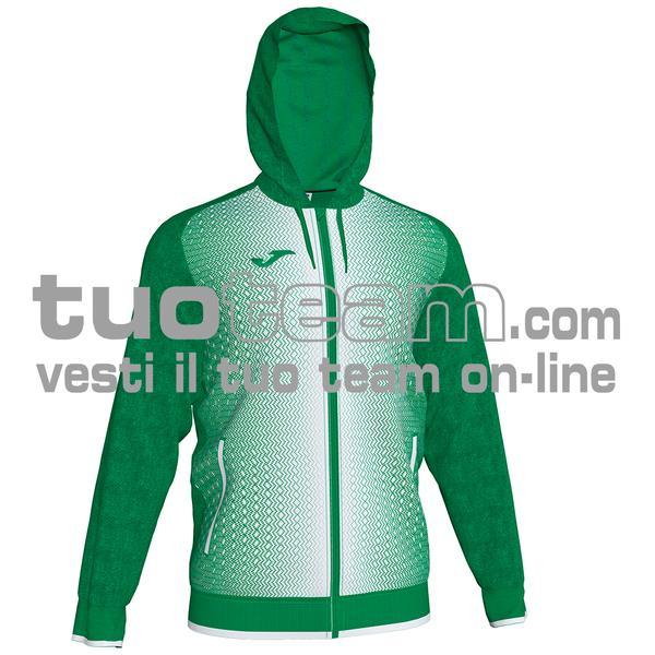 101285 - FELPA FULL ZIP 100% polyester tricot - 452 VERDE / BIANCO