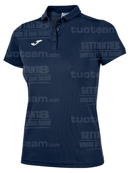 900247 - POLO HOBBY WOMAN M/C - 331 BLU NAVY SCURO/BIANCO
