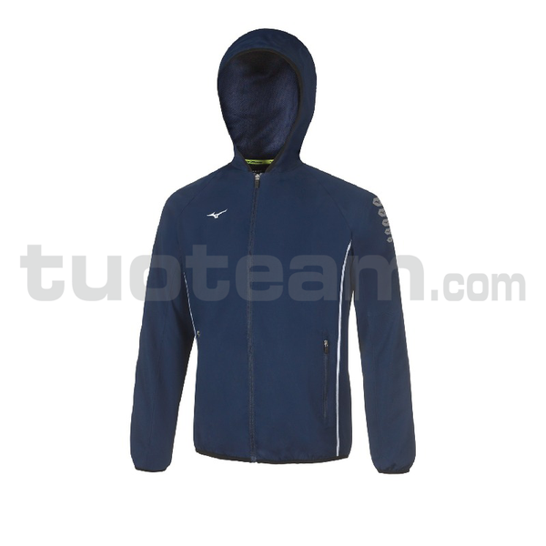 32EE7002 - Micro Jacket Hooded - Navy/White