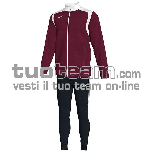 101267 - TUTA 100% polyester interlock - 672 BORDEAUX/NERO
