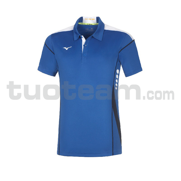 62EA7001 - Hex Rect Polo - Royal/White