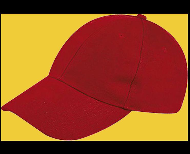 K18063 - CAPPELLINO 6 PANNELLI / 6 PANELS CAP - ROSSO