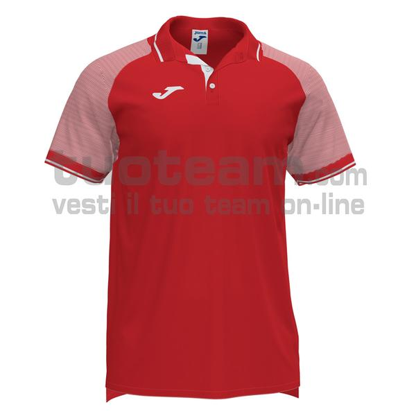 101509 - ESSENTIAL II POLO 100% polyester interlock - 602 ROSSO / BIANCO