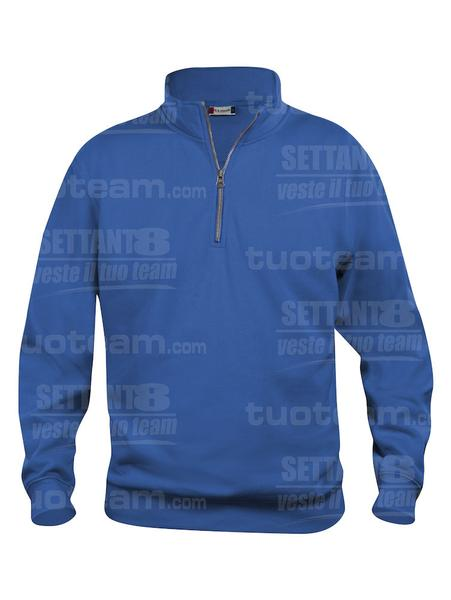 021033 - FELPA Basic Half Zip - 55 royal