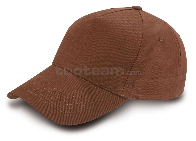 K18040 - CAPPELLINO GOLF 5 PANN. IN COTONE - MARRONE