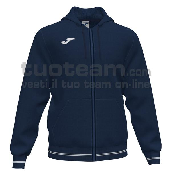 101590 - CAMPUS III FELPA FULL ZIP CAPPUCCIO 65% polyester 35% cotton - 331 Dark Navy