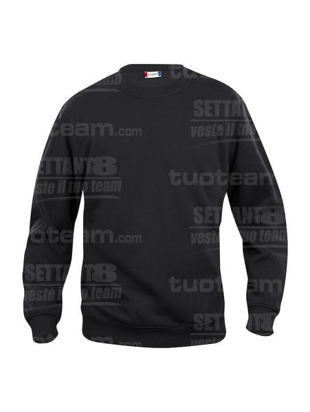 021030 - FELPA Basic Roundneck - 99 nero
